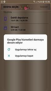 Google play durduruldu hatası