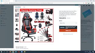 Wish.com sitesinden oyuncu koltuğu 150 TL doğru mu?